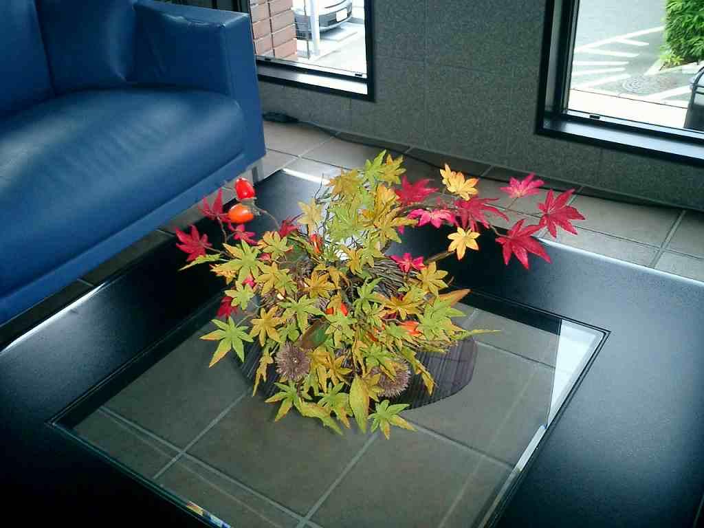 秋の装飾、紅葉装飾ディスプレイ