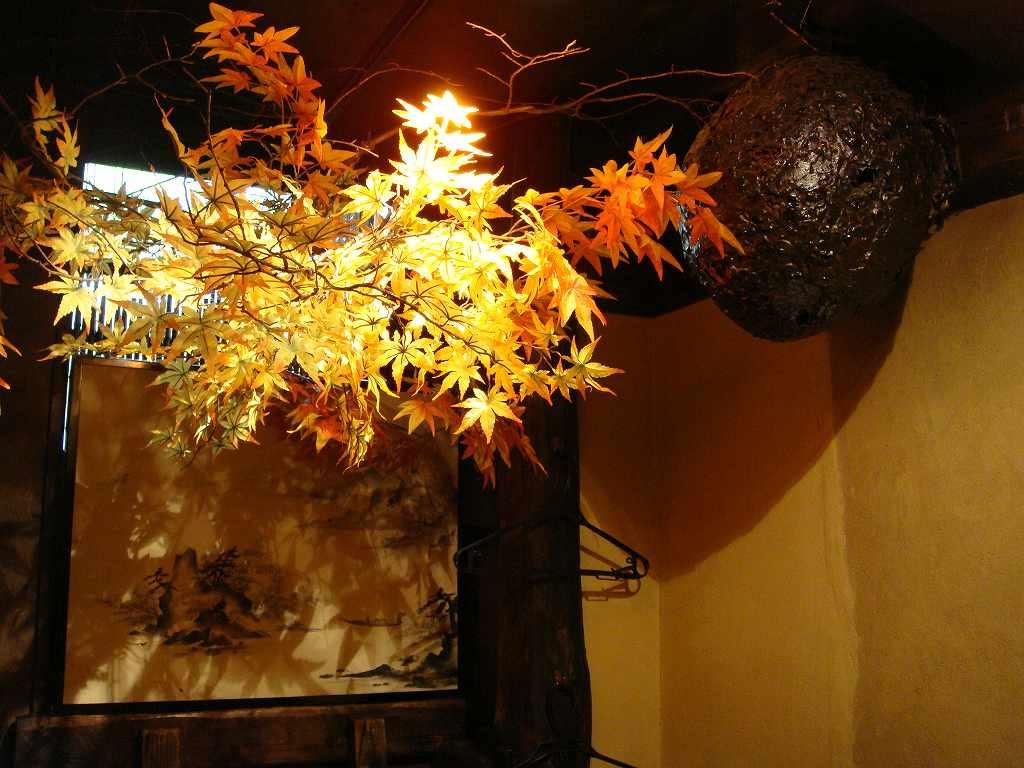 秋の装飾、紅葉(もみじ)装飾ディスプレイ