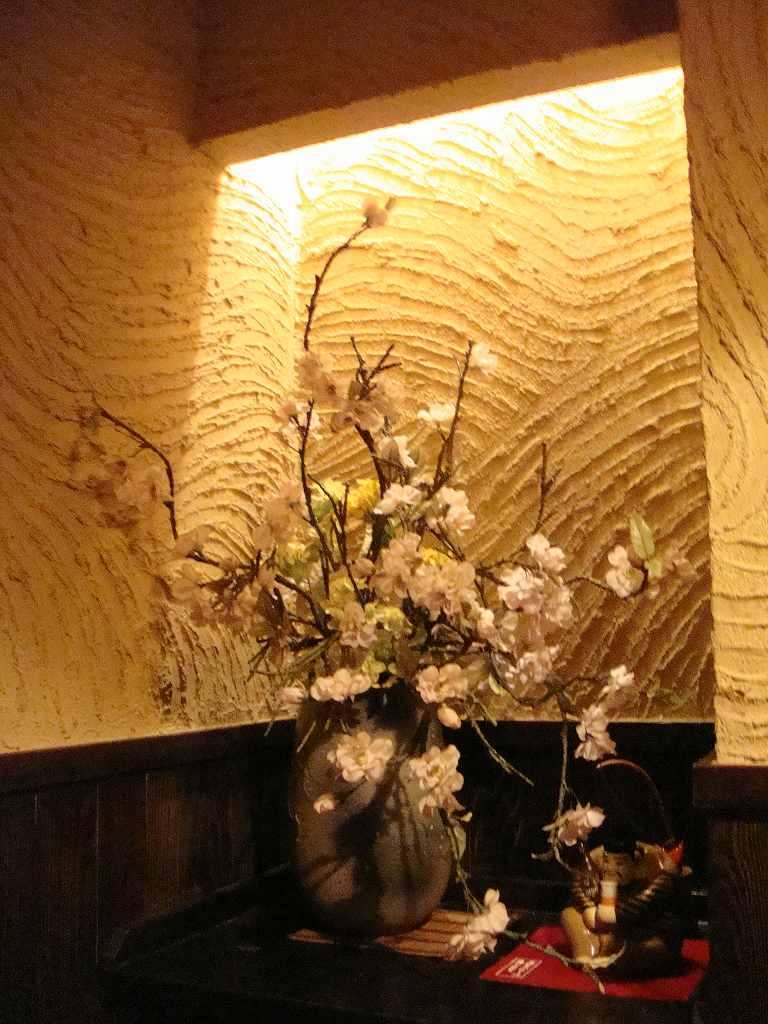 春の装飾、桜の装飾ディスプレイ