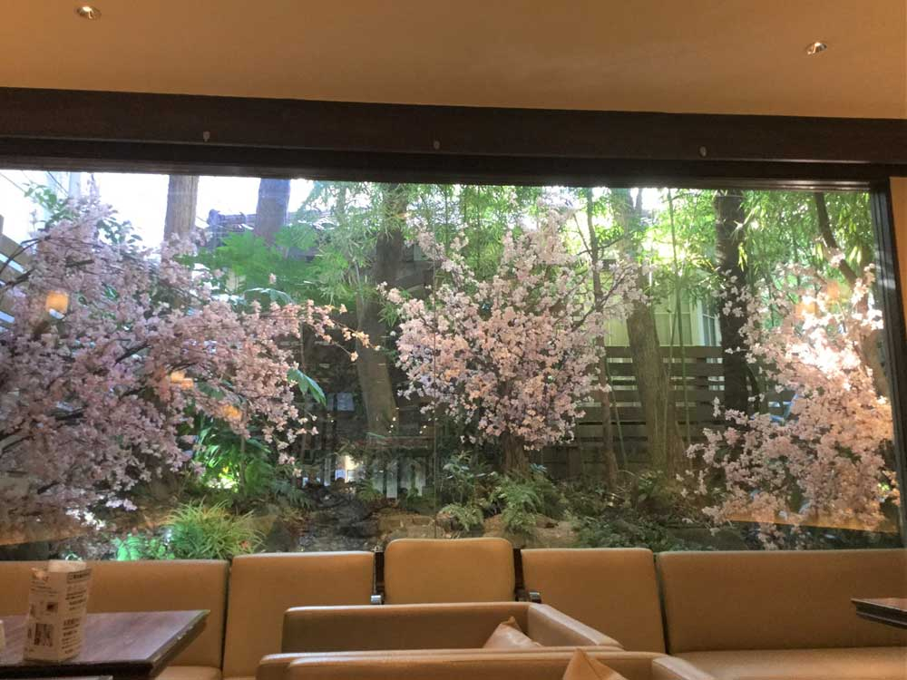 春の装飾、桜(さくら)装飾ディスプレイ