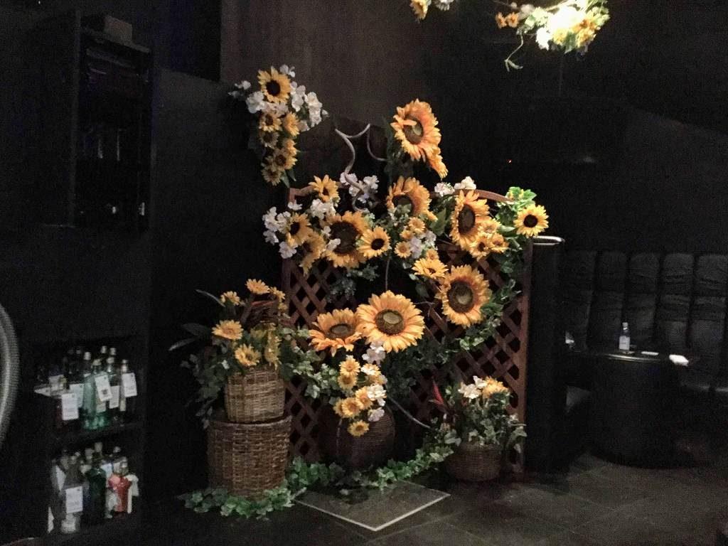 夏の装飾、ひまわり・ディスプレイ
