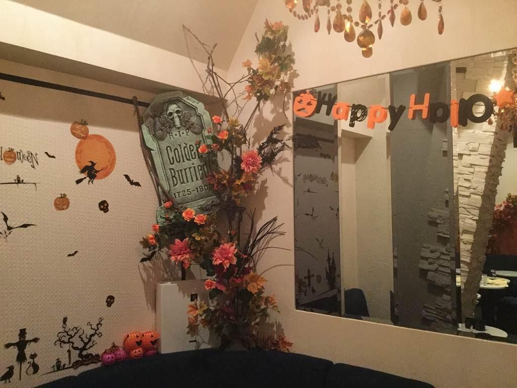 秋の装飾、ハロウィン装飾ディスプレイ