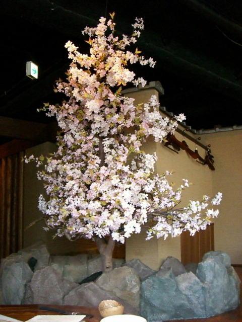 春の装飾、桜(さくら)ディスプレイ